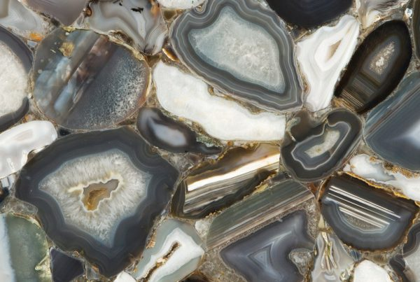nebbia gray agate close up